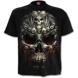 T-Shirt Homme Spiral DEATH BONES -Noir