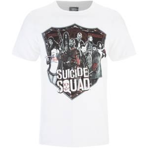 DC Comics Men's Suicide Squad Sheild T-Shirt - White