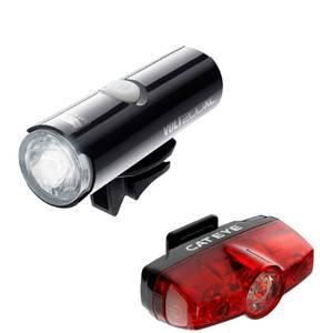 Cateye Volt 200 XC Front and Rapid Mini Rear Light Set