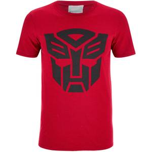 Transformers Men's Transformers Black Emblem T-Shirt - Red