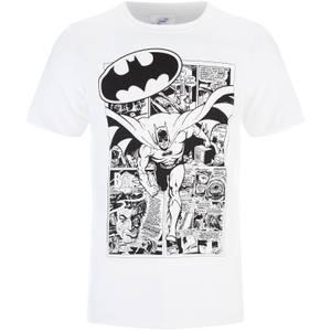 DC Comics Men's Batman Comic Strip T-Shirt - White