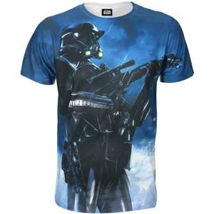T-Shirt Homme Star Wars Rogue One Battle Stance Death - Blanc
