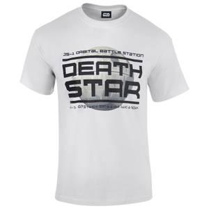 T-Shirt Homme Star Wars Rogue One l'Étoile de la Mort Logo - Blanc