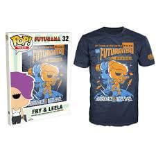 Funko XXL-Futurama Pop! Tee Fry And Leela Pop! Tees