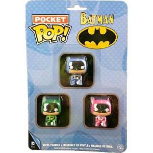 Funko Batman - Pink, Green & Blue Pocket Pop! Pop! Vinyl