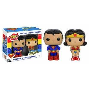 Funko Superman & Wonder Woman Salt & Pepper Shaker Pop! Home