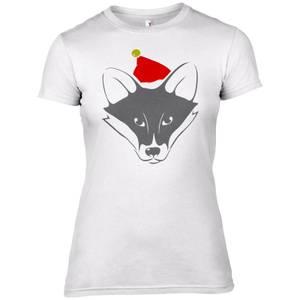 Fuchs mit Santa Hut Frauen T-Shirt