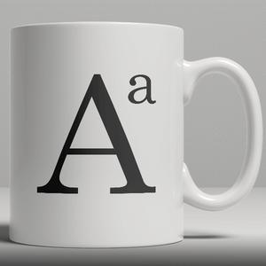 Alphabet Keramik Designer Tasse - Buchstabe A