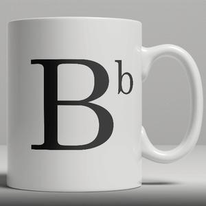 Alphabet Keramik Designer Tasse - Buchstabe B