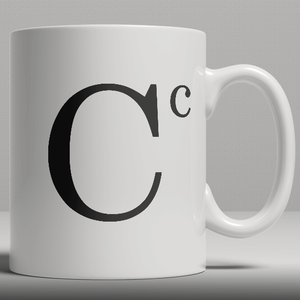 Alphabet Keramik Designer Tasse - Buchstabe C