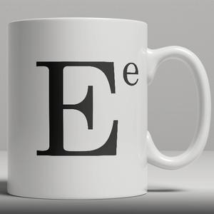 Alphabet Keramik Designer Tasse - Buchstabe E
