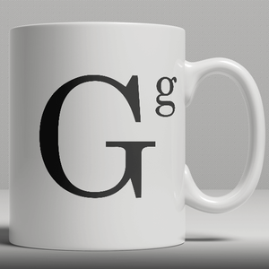 Alphabet Ceramic Mug - Letter G