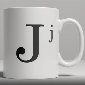 Alphabet Keramik Designer Tasse - Buchstabe J