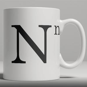 Alphabet Keramik Designer Tasse - Buchstabe N