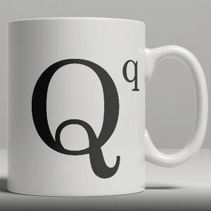 Alphabet Keramik Designer Tasse - Buchstabe Q