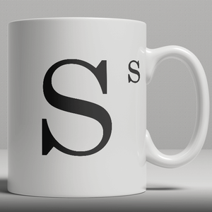 Alphabet Keramik Designer Tasse - Buchstabe S