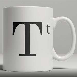 Alphabet Keramik Designer Tasse - Buchstabe T