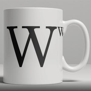 Alphabet Keramik Designer Tasse - Buchstabe W
