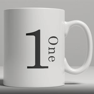 Alphabet Ceramic Mug - Number 1