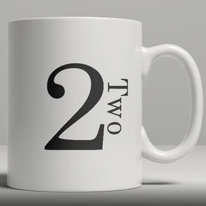 Alphabet Keramik Designer Tasse - Nummer 2