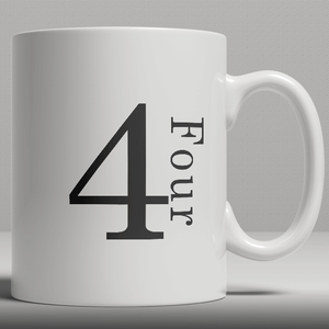 Alphabet Ceramic Mug - Number 4