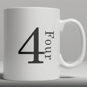 Alphabet Keramik Designer Tasse - Nummer 4