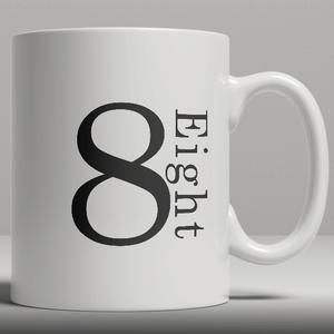 Alphabet Ceramic Mug - Number 8