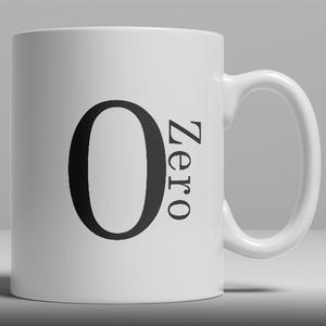 Alphabet Keramik Designer Tasse - Nummer 0