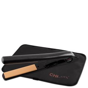 CHI Air Expert Classic Tourmaline Ceramic 1 Inch Flat Iron with Extended Plate - Onyx Black