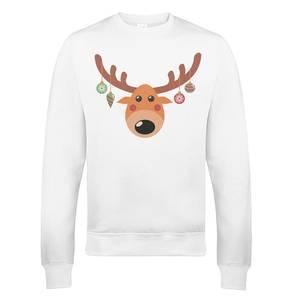 Pull de Noël Homme Reindeer Xmas - Blanc