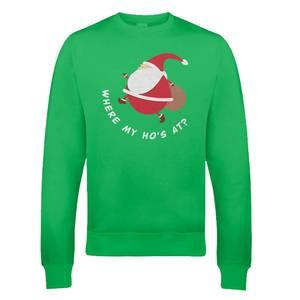 Pull de Noël Homme Gros Père Noël - Vert