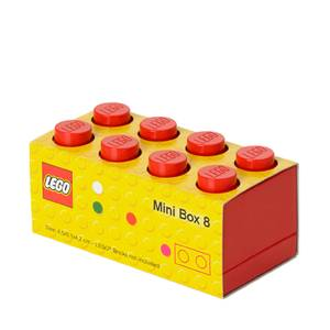 Mini Brique de rangement LEGO® Rouge 8 tenons