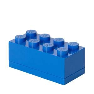Mini Brique de rangement LEGO® Bleue 8 tenons