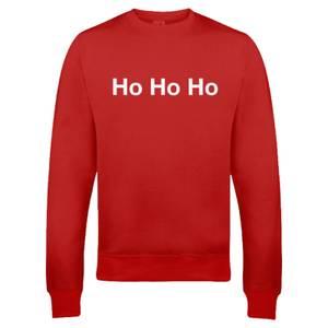 """Sudadera Navidad """"Ho Ho Ho"""" - Hombre/Mujer - Rojo"""