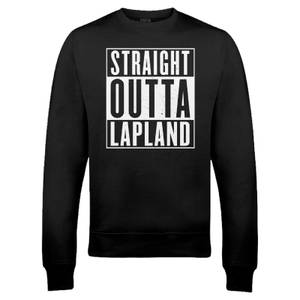 Straight Outta Lapland Christmas Sweatshirt - Black