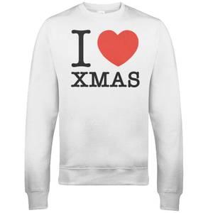 I Heart Xmas Christmas Sweatshirt - White