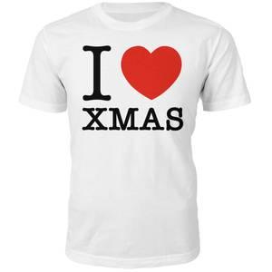 I Heart Xmas Christmas T-Shirt - Weiß