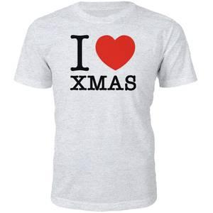 I Heart Xmas Christmas T-Shirt - Grau