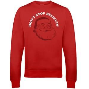 "Sudadera Navidad ""Don't Stop Believin'"" - Hombre/Mujer - Rojo"