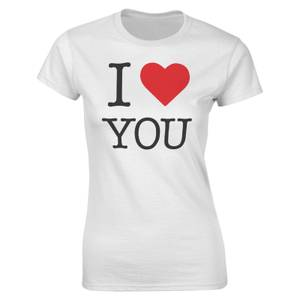 Valentines Frauen I Heart You T-Shirt - Weiß