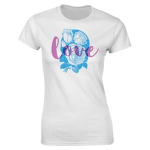 Valentines Frauen Love T-Shirt - Weiß