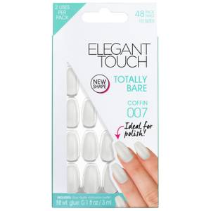 Uñas Totally Bare de Elegant Touch - Coffin 007