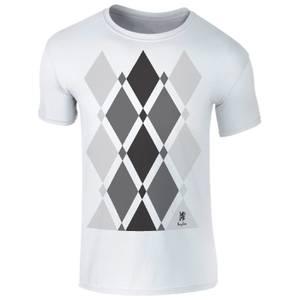 Männer Begbie Grau Pattern T-Shirt - Weiß