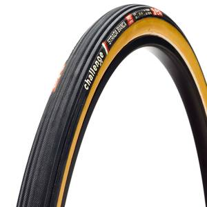 Challenge Strada Bianca 260 TPI Tubular Road Tire - Black/Tan - 700c x 30mm