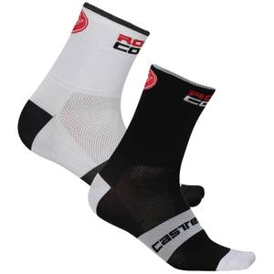 Castelli RoSso Corsa 6 Socks - White