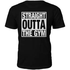 Straight Outta The Gym Slogan T-Shirt - Black