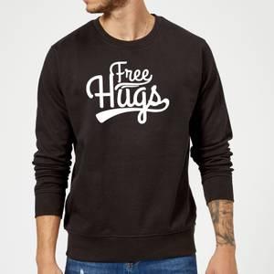 Free Hugs Slogan Sweatshirt - Black