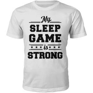 Männer Sleep Game T-Shirt - Weiß