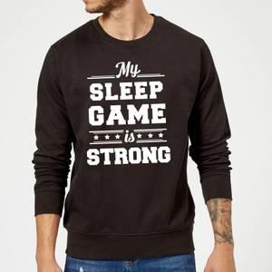 Sleep Game Slogan Sweatshirt - Schwarz