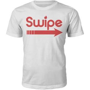 T-Shirt Unisexe Swipe Right -Blanc